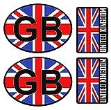 Biomar Labs 4pcs Pegatina Reino Unido Britanica UK Inglesa Flag Bretaña Bandera Vinilo Adhesivo Sticker Coche Casco Motos Ciclomotores Bicicleta Ordenador Portátil D 12