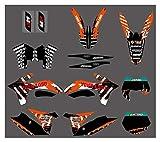 bazutiwns Gráficos del Equipo de la Motocicleta con Fondos a Juego Pegatinas para KTM 125 150 200 250 350 450 500 500 SX XC XC XC-W XCW SX-F SXF XC-F XCF exc HSLL