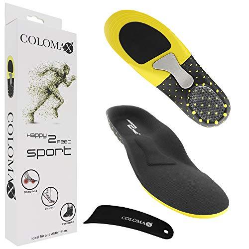 COLOMAX - SPORT - Einlegesohlen ideal für Sport und Alltag - Optimale Dämpfung - Maximaler Halt - Für Damen & Herren, Schwarz, 47 - 50 EU / XL