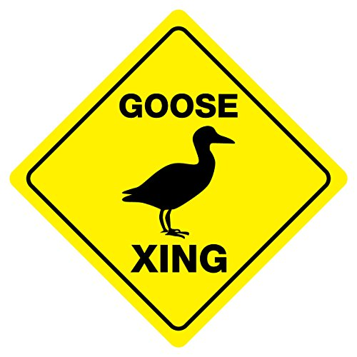 Goose Crossing Funny Novelty Sign