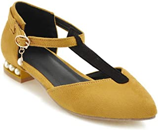 BalaMasa Womens APL11715 Pu Block Heels