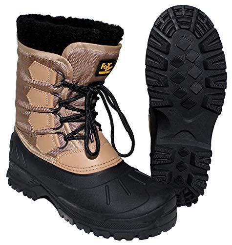 Fox Outdoor Kälteschutzstiefel, geschnürt, Khaki/sw warme wasserdichte Winter-Stiefel - 43