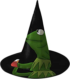 Kermit The Frog Halloween Witch Hats Costume Cap Accessories Party Cosplay Decorations 2 PCS