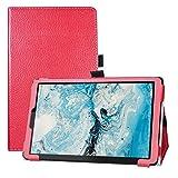 LFDZ Cover Lenovo Smart Tab M8, Slim Ultra Pelle Sottile e Leggera Cover Case Custodia per 8' Lenovo Smart Tab M8 (TB-8505FS) Tablet[Not Fit Lenovo Tab M8],Rosso