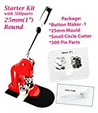 ChiButtons 25mm (1' Kit) Button Maker - 1 + 25mm Mould + 500 pin Parts + Circle Cutter