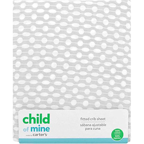 Carters Child of Mine Fitted Crib Sheets Boys Girls Unisex Gray and White
