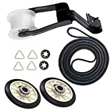 4392065 Dryer Repair Kit With 349241T Drum Roller Kit, 691366 Idler Pulley, 341241 Belt: Exact fit for Whirlpool & Kenmore Dryers: - Replaces part number AP3131942, AP3098345, AP6010582, WP691366