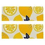 Toallas deportivas de microfibra – 11 pulgadas 32 pulgadas rápido secado rápido toalla de playa amarillo fruta limón patrón para viajes al aire libre camping ligero