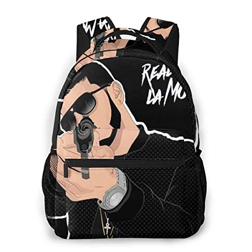 BAODANLE Anuel Aa Real Hasta La Muerte School Bag Multifunctional Backpack Training Course Travel Bag Classic Backpack for Men Women