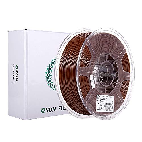 eSUN PLA+ Filament 1.75mm, PLA Plus 3D Drucker Filament, Maßgenauigkeit +/- 0.03mm, 1KG (2.2 LBS) Spule für 3D Drucker in Vakuumverpackung, Braun