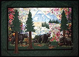 Whims Watercolor Quilt Kits Bear Country Quilting Supplies, Black