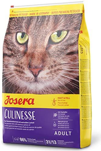 JOSERA Culinesse, Katzenfutter mit Lachsöl, Super Premium Katzenfutter für ausgewachsene Indoor und Outdoor Katzen, 1er Pack (1 x 10 kg)