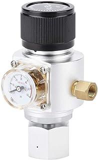CO2ガスレギュレーターバルブ、60psi実用的なミニ減圧バルブCO2ガスレギュレーターソーダ水アダプター自家製ボトル用のソーダボトルアクセサリー