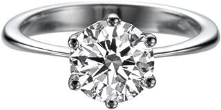 D-F VS 7.50MM Forever One Moissanite Engagement Ring (1.29 ct Moissanite, 1.50 ct dew) 6 prongs 14K Gold