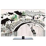 Hülle Bezug TV - Baumwollgewebe, Antistatisches LCD/LED -Schutzgehäuse Kompatibel Curved-TV, Desktop-TV und Hänge-TV, 22-80 Zoll-45Zoll-J