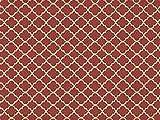 Dekostoff Vorhangstoff Satin Rhomben Muster rot