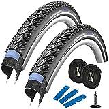 SCHWALBE Marathon Plus Tour 28' (42-622) 2 Stück Fahrradreifen, Set für Trekking- Crossbike + 2 Schläuche DV 17