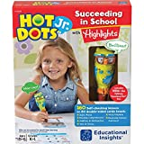 Educational Insights Hot Dot Jr. Succeeding in School Set with Highlights, Homeschool & School Readiness, 160 Multi-Subject Lessons, Interactive Pen Included, Ages 5+