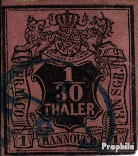 Prophila Collection Hannover (Altdeutschland) 3 Pracht 1851 Wertschild (Briefmarken für Sammler)