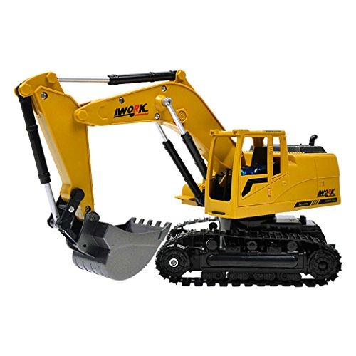 RC Auto kaufen Baufahrzeug Bild: Fenteer 1:24 Ferngesteuerter Bagger RC Baufahrzeug Spielzeug mit Sound & Lichter Effekt*