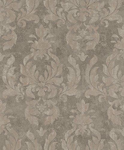 rasch Tapete 467444 aus der Kollektion Vincenza – Vliestapete mit fein skizzierten Ornamenten in Braun im klassischen Stil – 10,05m x 53cm (L x B)