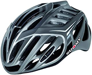 Suomy Timeless Road Cycling Helmet (L/XL, Silver/Anthracite)