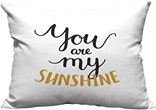 YouXianHome Zippered Pillow Covers Big Font Classic Romantic Partners Phrase Soul Mates Calligraphy Image Mustard Black Decorative Couch(Double-Sided Printing) 12x16 inch