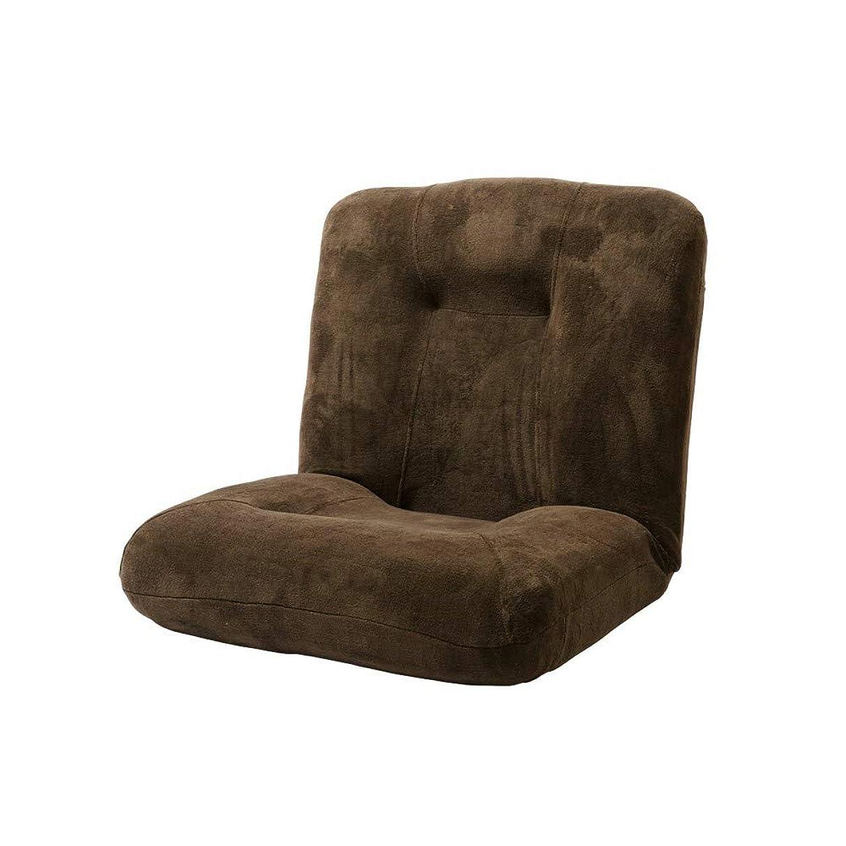 トーナメント独立してトロピカルアイリスプラザ 座椅子 ブラウン 幅74×奥行72~125×高さ18~68 CG-875-MFB