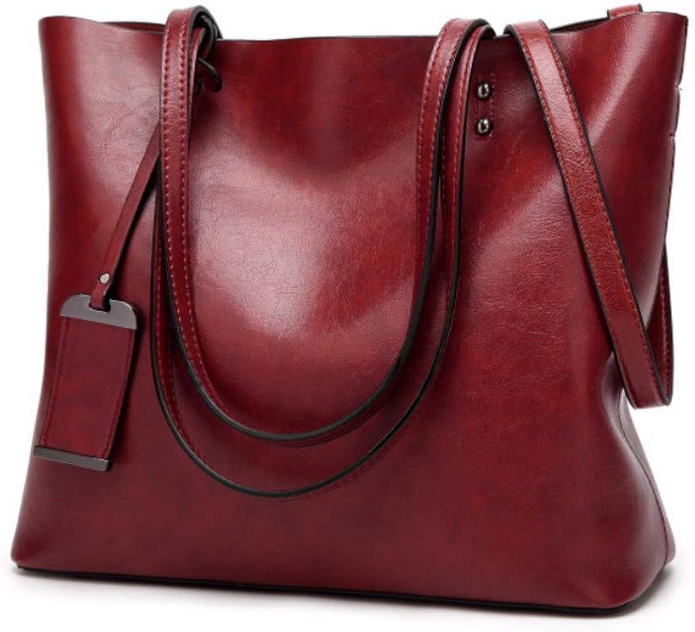JQSM Retro Pu Large Capacity Women's Handbag Casual Shoulder Crossbody Bag