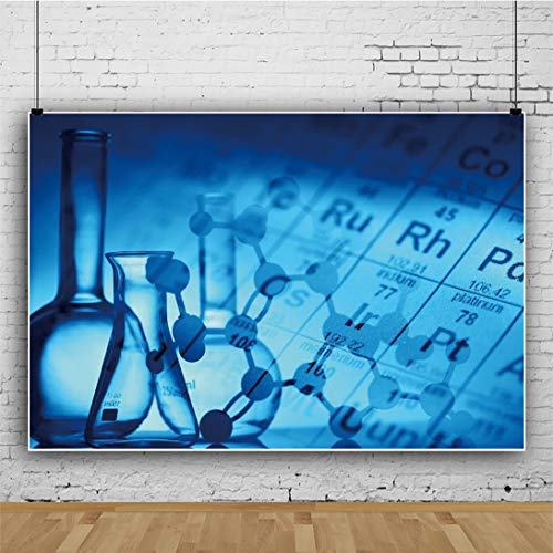 YEELE Chemistry Laboratory Backdrop 7x5ft Chemical Element Molecular Structure Photography Background Science Research Chemistry Class Decor Kids Adults Artistic Portrait Photo Shoot Props