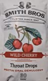 Sore Throat Drops with Pectin by Smith Brothers (Wild Cherry, 90 Count): Vintage Candy Throat Lozenges - The Original American Cough Drop