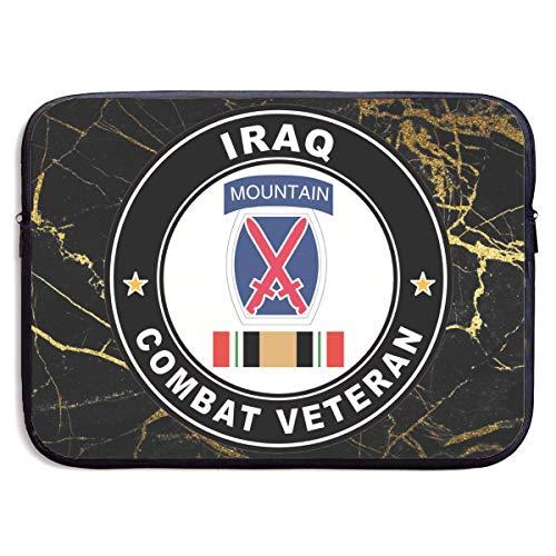 Veterano De Combate De La 10A División De Montaña En Irak Maletín Funda,Estuches para Tablet Pc,Funda Protectora,Fundas Blandas para Tablets,Hombre/Mujer Tableta Sleeve,Funda para Portátil 15In