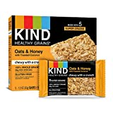 KIND Healthy Grains Bars, Oats & Honey with Toasted Coconut, Non GMO, Gluten Free, 5 Count per pack, 6.2 Ounce