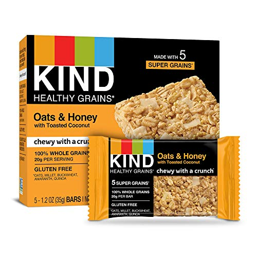 Kind Healthy Grains Bars Oats amp Honey with Toasted Coconut 12 oz 5Count