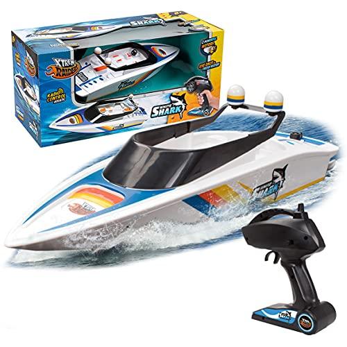 Xtrem Raiders White Shark, Agua, Lanchas Teledirigidas, Juguetes para Niños, Barco Radiocontrol, Boat RC, Color (World Brands XT580759)