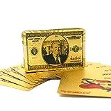TRUMP 社長サポーター 金メッキ トランプカード 金メッキ ポーカーカーカード ゲーム用 テーブルゲーム用 友人への贈り物に最適 ゴールド