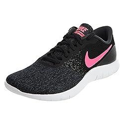 Nike Womens Flex Contact Running Shoe, Black/Hyper Pink-Anthracite-White, 6.5 נעלי נייק לנשים