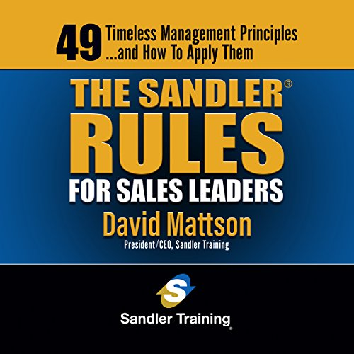 The Sandler Rules for Sales Leaders audiobook cover art