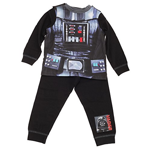 Star Wars - Conjunto de Pijama de Darth Vader para niños (3-4 Años) (Negro)