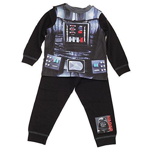 Star Wars Jungen Darth Vader Schlafanzug (3-4 Jahre (104)) (Schwarz)