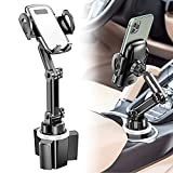 Car Cup Holder Phone Mount, CTYBB Cup Holder Cradle Car Mount with Adjustable Neck for Cell Phones iPhone 12 Pro Max /11 Pro/XR/XS/8/7 Plus/6s, Samsung S20/S10 Plus/S9/Note9, Huawei etc.
