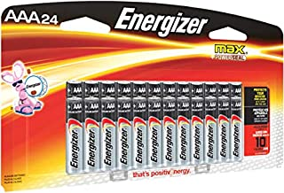 Energizer AAA Batteries (24 Count), Triple A Max Alkaline Battery – Packaging May Vary
