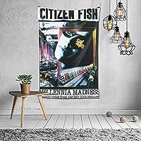 タペストリー Citizen Fish ファッション 布製壁掛け 部屋 寮 ホームステイ窓 壁 装飾用品 多機能 ブランケットカーテン ビーチタオル インテリア,(60x40inch/150x100cm)