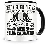 Samunshi® Ich denke an meinen Bolonka Zwetna Hunde Tasse Kaffeetasse Teetasse Kaffeepott Kaffeebecher Becher
