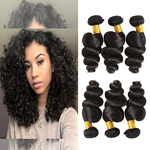 Huarisi Loose Wave Hair Brazilian Bundles 7a Virgin Hair Deals 300g Natural Hair Weaves Extensions 12 14 16 Inches in Pack