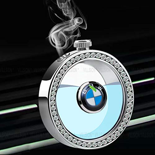 KINBEAR Car Logo Air Freshener Vent Smell Refresh with Exquisite Diamond Ornaments fit BMW, Car Conditioner Air Outlet Perfume Bottle Release Fragrance with Gift Box