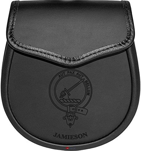 Jamieson Leather Day Sporran Scottish Clan Crest