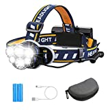 Rechargeable Headlamp TAZLER 12000 Lumens 6 LED 8 Modes USB Rechargeable HeadLight