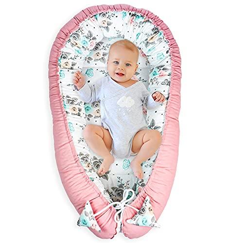 Nido para Bebe - Reductor de Cuna Nido Bebe Recien Nacido algodón con Certificado Oeko-Tex mariposa
