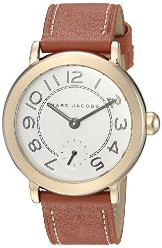 Marc Jacobs Women's Riley MJ1574 Gold Leather Quartz Fashion Watch